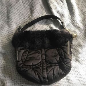 Coach bag with Rabbit fur